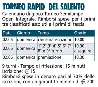 TORNEO RAPID DEL SALENTO