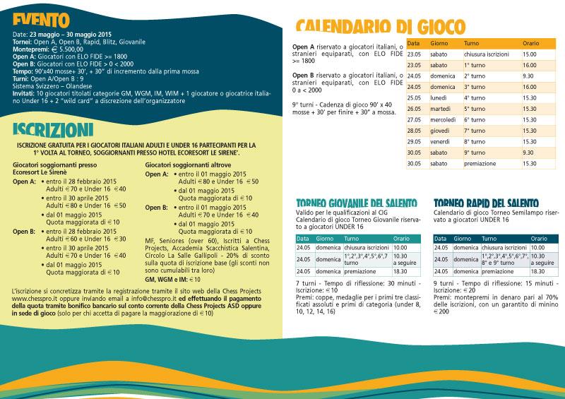 4° OPEN INTERNAZIONALE DEL SALENTO 2015
