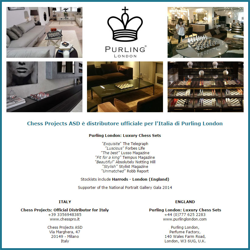 Chess Projects ASD is the official distributor of Purling London for Italy