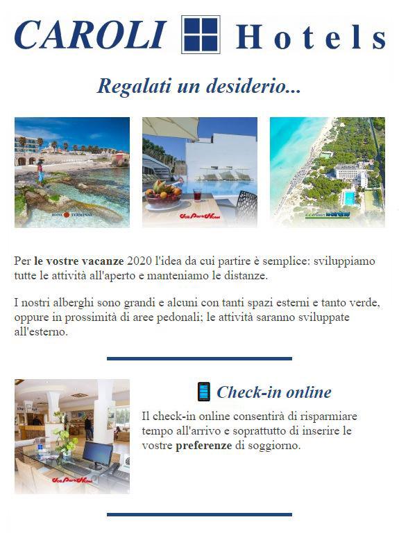 La tua vacanza 2020 nei Caroli Hotels